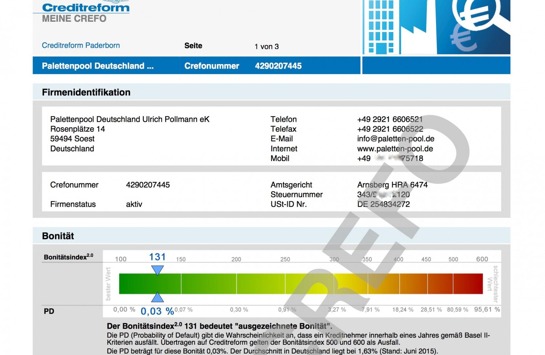 neues rating - ausgezeichnete bonität - palettenpool deutschland